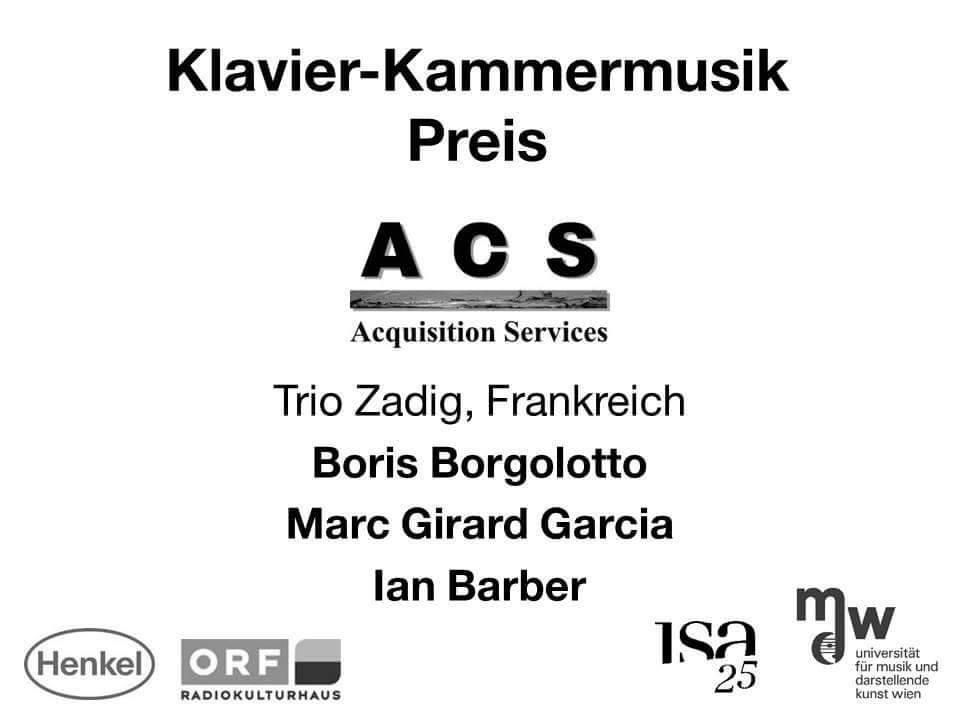 ISA prix musique de chambre